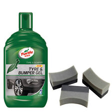 Turtle Wax Tyre Bumper Gel Plastic Rubber Cleaner Restorer + 3 Applicator Pads