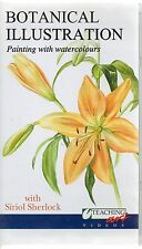 SIRIOL SHERLOCK BOTANICAL ILLUSTRATION PAINTING WITH WATERCOLOURS VHS VIDEO