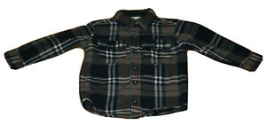 boys Osh Kosh 3T blue/gray plaid flannel long-sleeved button front shirt
