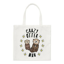 Crazy Otter Man Stars Regular Tote Bag Funny Animal Shopper Shoulder