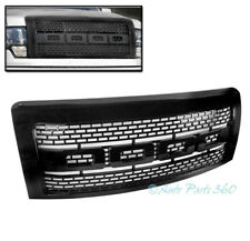 09-14 FORD F-150 RAPTOR STYLE FRONT HOOD UPPER MESH GRILLE GRILL GLOSS BLACK ABS