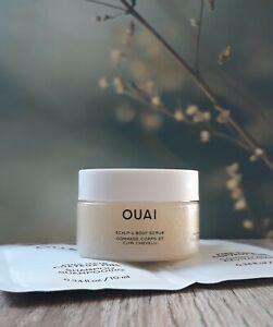OUAI Scalp & Body Scrub & Fine Hair Shampoo and Conditioner