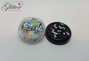 HEXAGON SHAPED HOLOGRAPHIC SILVER GLITTER FOR NAIL ART