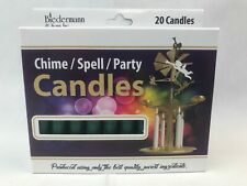 """Chime Candles 4"""" Dark Green Pine Box of 20 Ritual Magic Spell Candle Pagan Wicca"""