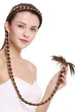 Haarteil Zopf an Haarreif geflochten super lang Tracht hellbraun 95 cm N1038-12