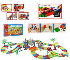 Bambini Bambini Divertente Auto Flessibile variabile Track Set 257 PZ RACING GIOCO set LED