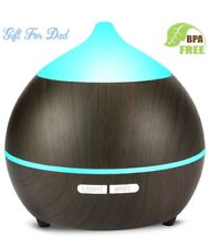 Auto-Apagado Humificador de Aire para Yoga Spa Hogar Oficina Dormitorio Ultras/ónico Humidificador 7 Colores de LED L/ámpara Difusora Aromaterapia de Vapor Fr/ío Difusor de Aceites Esenciales