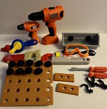 Big Lot Of Kids Pretend Tools | Black Decker Drill Screw Driver Goggles