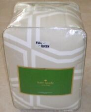 Kate Spade New York ~ Beige Tan & White Bow Tile ~ Full/Queen 3pc Comforter Set