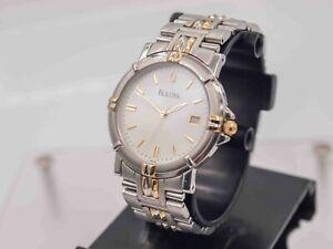 2003 - Bulova Accutron Quartz 35mm Unisex Wrist Watch SS w/ Integrated Bracelet