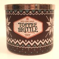 NEW BATH & BODY WORKS TOFFEE BRITTLE 14.5 OZ SCENTED 3-WICK LARGE FILLED CANDLE