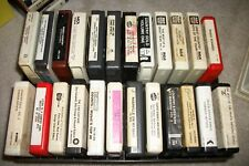 24  Multiple Artist Carts on 8 track Tape 1 Sealed + 2 Cases