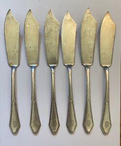 Antique/Vintage AWS Wellner Silverplated Butter Knife - Set of 6