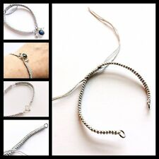 Woven / Braided friendship bracelet strap / finding for jewellery making