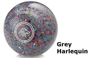 DRAKES PRIDE XP FLAT GREEN GREY  HARLEQUIN BOWLS##B3244C