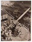 1939 Australian HMAS Cruiser Sydney 4.1 inch Anti-Aircraft Gun Orig. News Photo