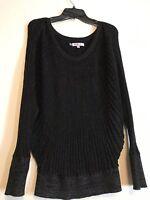 Jennifer Lopez - Black Sheer Metallic Sweater - Size Medium