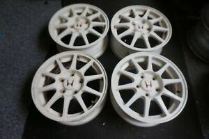 Honda Integra Type R DC2 UKDM EDM Original 15x6 Alloy Wheels with centre caps