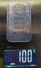 Rare Collectible Argor S.A.A. Swiss100g .999 Fine Silver Bar See Pics 🔥🔥