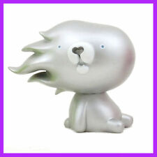 KUMANO GOLLO BEAR Silver VINYL ART TOY FIGURE BY Akiyoshi Chino RARE! Dunny