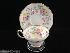 EB & Co Foley Bone China Rose Floral Vine TEA CUP & SAUCER SET