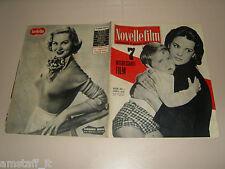 ANTONELLA LUALDI=MASSIMO CURZI=VIRGINIA MAYO=COVER MAGAZINE 1955/390 NOVELLEFILM
