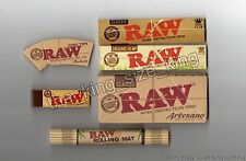 Raw Hemp Kingsize Papers + Tips, Artesano With Tray, Organic Paper, Rolling Mat