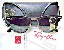 RAY-BAN NOS VINTAGE B&L CLUBMASTER II W1116 Polished Black-Ebony *NEW SUNGLASSES