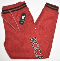 Rocawear Jogger Pants Men's XL Top Pick Embroidered Fleece Sweatpants Red P934