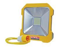 Faithfull fppsltl 20 L 110 V LED Luz de trabajo de 20 W 2000 LM IP54 Power Share Socket