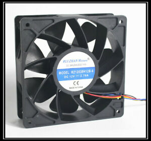 RUI ZHAN RZ12038H12B-6 DC12V 2.70A 12038 chassis cabinet cooling fan