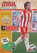 N°010 CORONA GARCIA PEREZ-ROLDAN # ESPANA UD.ALMERIA CARD PANINI MGK LIGA 2014