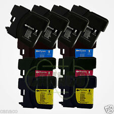 10 LC61 Ink Cartridge Set for Brother MFC-490CW Printer