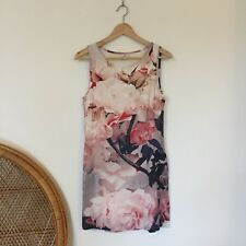 Stussy Dress Size 8 Sleeveless Floral Flower Print Dress Designer Summer Beach