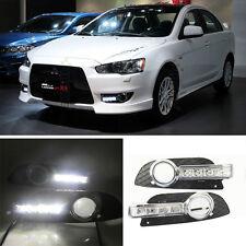 LED DRL Driving Daytime Running Light Lamp For Mitsubishi Lancer-ex 2008-2011