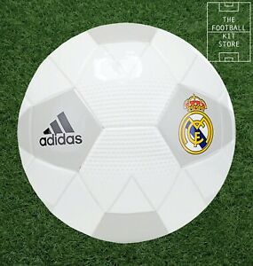 Official adidas Real Madrid Mini Football - White - RMCF Ball - Size 1