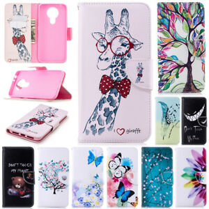 Patterned Case For Nokia 2.4 3.4 5.3 6.2 7.2 Magnetic Wallet Leather Flip Cover
