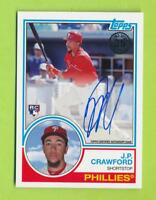 2018 Topps Silver Pack 1983 35TH Anniversary Auto - J.P. Crawford  Phillies
