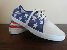 Converse All Star Low Athletic Shoes Patriotic Red White Blue Stars SZ Men's 8