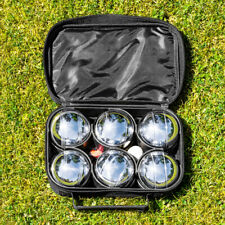 French Boules Deluxe Set + Carry Bag | CHROME PLATED BALLS + JACK – Lawn Game