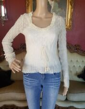 Intuitions soft delicate lightweight beautiful long sleeve sweater Ivory Sz M