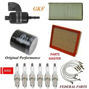 Tune Up Kit Filters Spark Plugs Wire For PONTIAC MONTANA V6; 3.4L 1999-2000