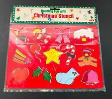 Doodling Fun with Christmas Stencil Vintage New in Package Doodling Fun