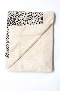 Pratesi Animal Print Throw Blanket Black Beige