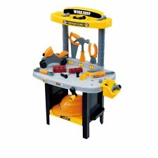 CREATIVE  TOOL BENCH PLAY SET WORK SHOP TOOL KIT BOYS KIDS WORKBENCH UNIQUE TOY