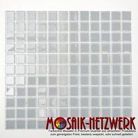 Glasmosaik uni hellgrau Transluzent Kristall Klarglas 25x25x4 Art:60-0204_f 1 qm