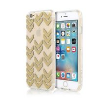 Incipio Design Series Shell Case For iPhone 6/6S - Clear with Gold Chevrons