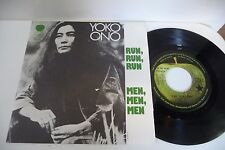 YOKO ONO 45T FRENCH PRESS PATHE .RUN,RUN,RUN / MEN,MEN,MEN.