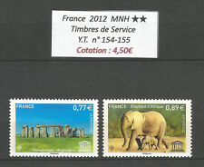 FRANCE 2012...Service Stamps n°  Y.T. 154-155 ...MNH **