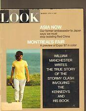 APRIL 4 1967 LOOK vintage magazine ASIA NOW - MONTREAL - JACKIE KENNEDY